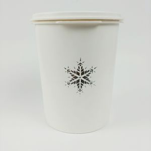 Vtg Tupperware snowflake canister limited edition